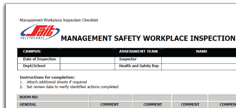 Safety Risk Assessment Checklist, Blog Feature