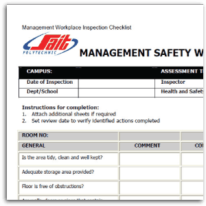 Safety Risk Assessment Checklist