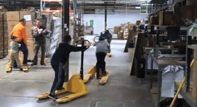 Beware Forklift Racing