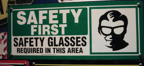 Safety First: Safety Glasses Required