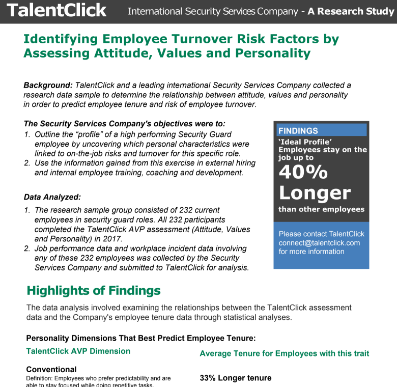 Turnover & Retention - TalentClick