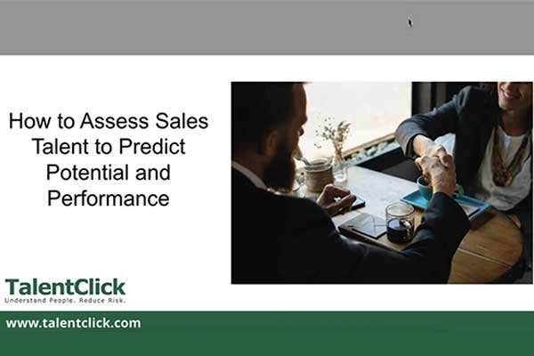 predict performance in sales talent