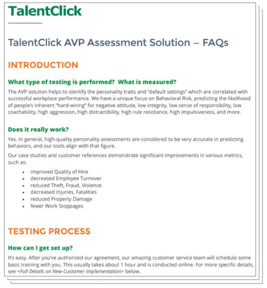 Employee Personality Tests for Risk Assessment |TalentClick