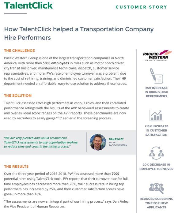 customer story transportation turnover