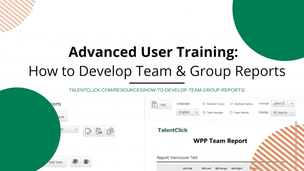 develop teams group reports